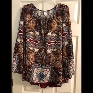 Pink owl blouse